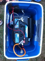 Secondary battery box internal