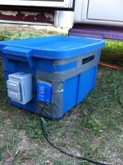 Secondary battery box